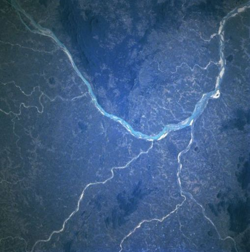 Mahanadi River as seen from space