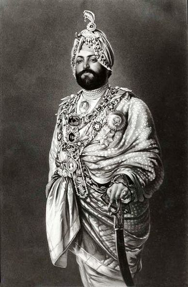 An 1875 Photograph of Maharajah Ranjeet Singh in England