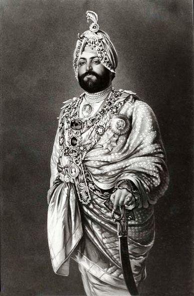 An 1875 Photograph of Maharajah Ranjeet Singh in England