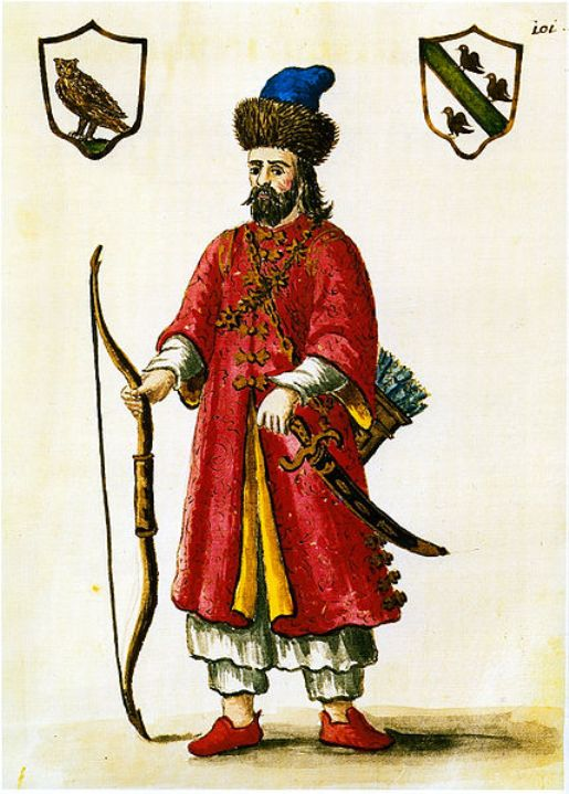Marco Polo wearing a Tartar outfit