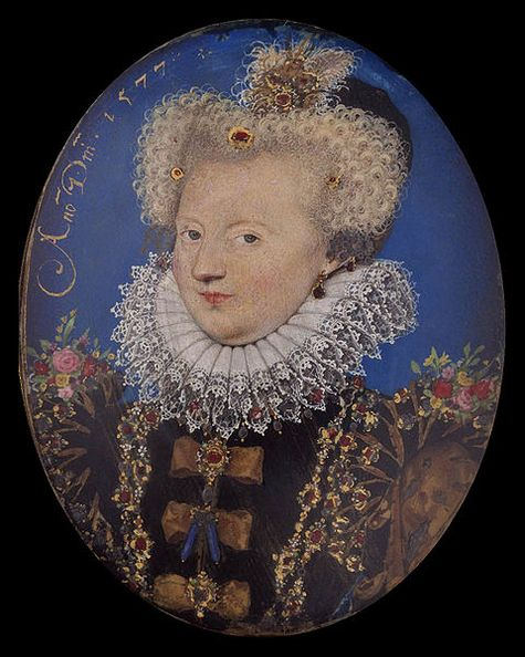 Margaret of Valois from a miniature by Nicholas Hilliard