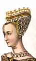 Pearl-studded headdress of Queen Margaret of Scotland