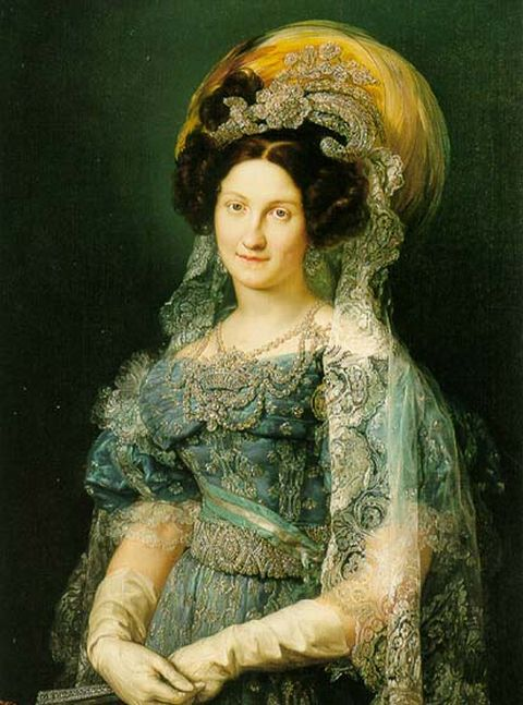Maria Christina of the Two Sicilies - Fourth wife and Queen consort of Ferdinand VII, king of Spain in 1808 and again from 1813 to 1833