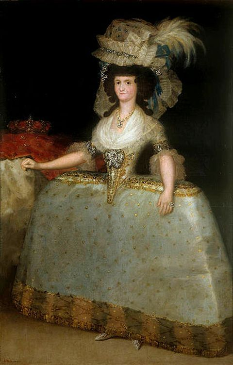 Maria Louisa of Parma, wearing panniers as Queen of Spain in 1789