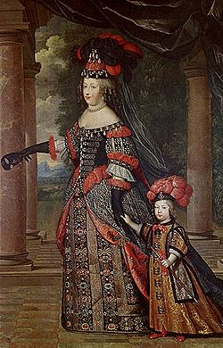 Marie Therese with her eldest son-Louis Dauphin