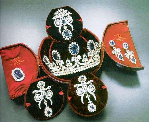 Queen Marie Amelie Sapphire, Diamond and Pearl Parure