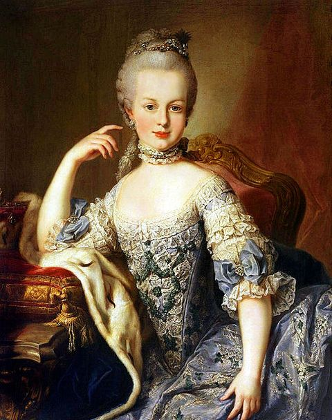 Marie Antoinette at the age of twelve