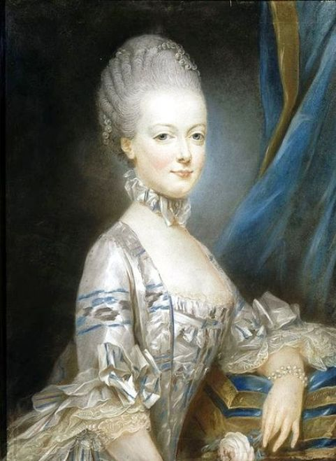 Marie Antoinette at the age of 13 years- Portrait by Joseph Ducreux