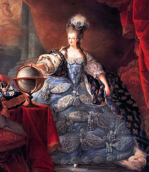 Marie Antoinette in Coronation Robes in 1775