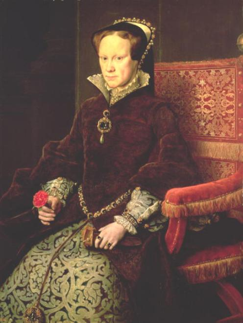 Mary I, 4th Tudor Monarch of England