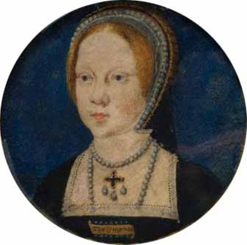 Miniature portrait of Mary Tudor (Mary 1) at the time of her engagement to Charles V