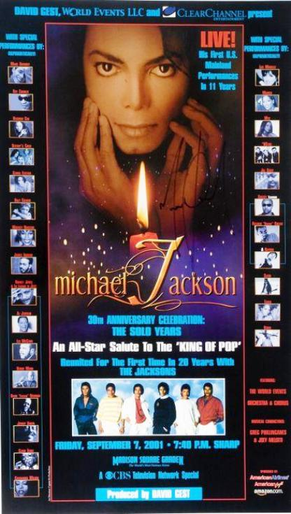 Lot No. 333: Michael Jackson signed concert poster