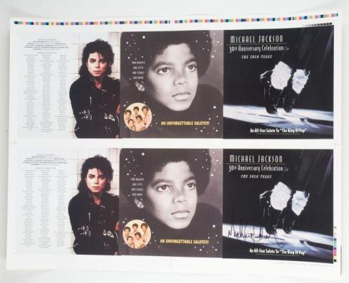 Lot No. 330: Michael Jackson signed tribute program proof