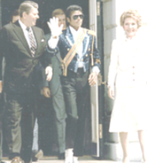 Michael Jackson at the White House with President Ronald Reagan and First Lady Nancy Reagn