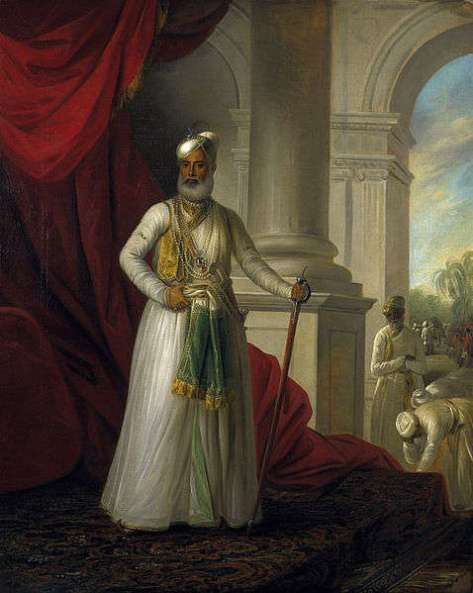 George Willison's 1777 portrait of Nawab Muhammad Ali Khan Wala-Jah, a strong ally of the British, who ruled between 1752 and 1795