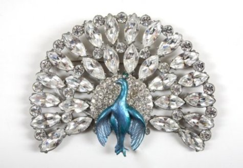Moonwalker Peacock Brooch from the Neverland Ranch Collection