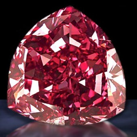 5.11-carat, trilliant-cut Moussaieff Red Diamond