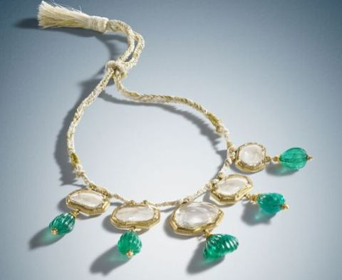 Mughal Mirror Diamond Necklace