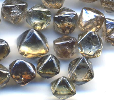 Natural Octahedral Rough Diamonds