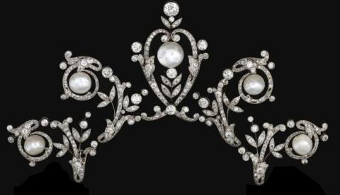 Smaller Version of the Above Tiara Produced by dismantling the Two Lower Scrolls