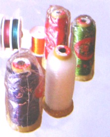 Threads for making colored stone jewelry