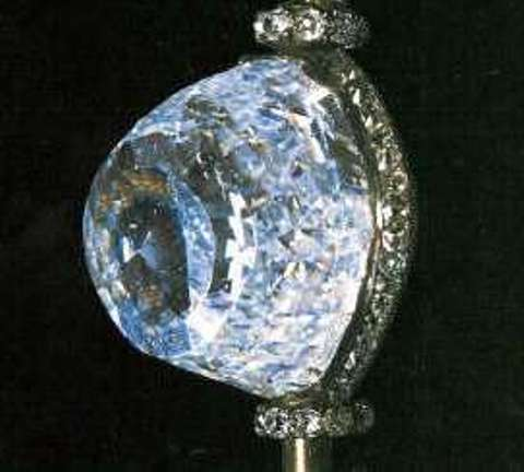 The 189.62-carat, old Moghul-cut, Orlov diamond mounted on the Imperial Scepter of the Romanov rulers of Russia