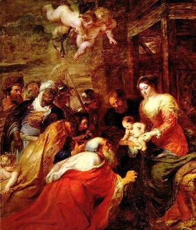 Peter Paul Ruben's 1634 painting The Adoration of the Magi