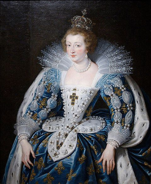Portrait of Anne of Austria by Peter Paul Rubens executed around 1622 to 1625