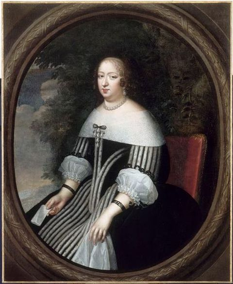 Portrait of Anne of Austria in her later years from the châteaux de Versailles et de Trianon
