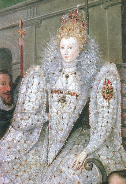 Portrait of Elizabeth 1 being Carried in Procession around 1600