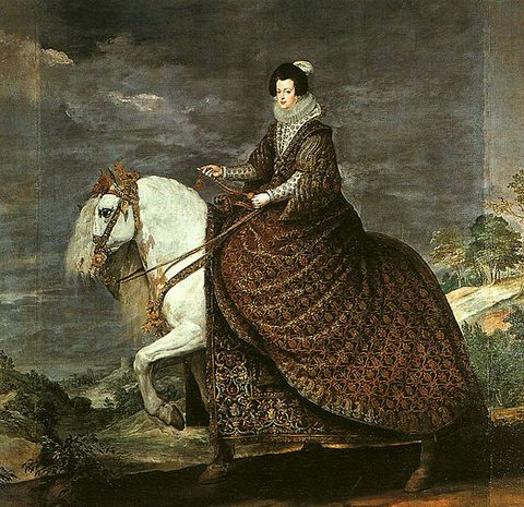Equestrian portrait of Elizabeth of France by Diego Velazquez in 1632