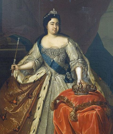 Portrait of Empress Catherine I of Russia by Heinrich Buchholz around 1725