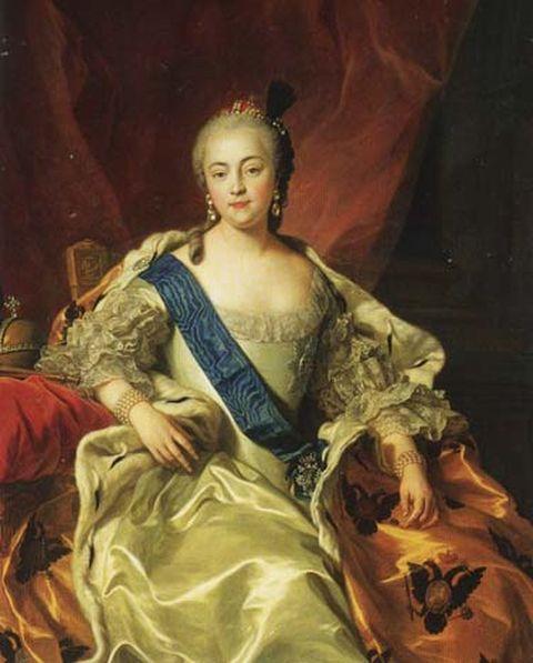 Portrait of Empress Elizabeth Petrovna by Charles Van Loo