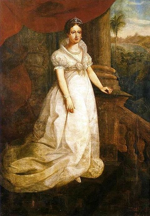 Portrait of Maria Leopoldina - Wife of Pedro I and Empress consort of Brazil