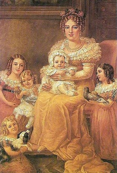 Portrait of Maria Leopoldina with her children