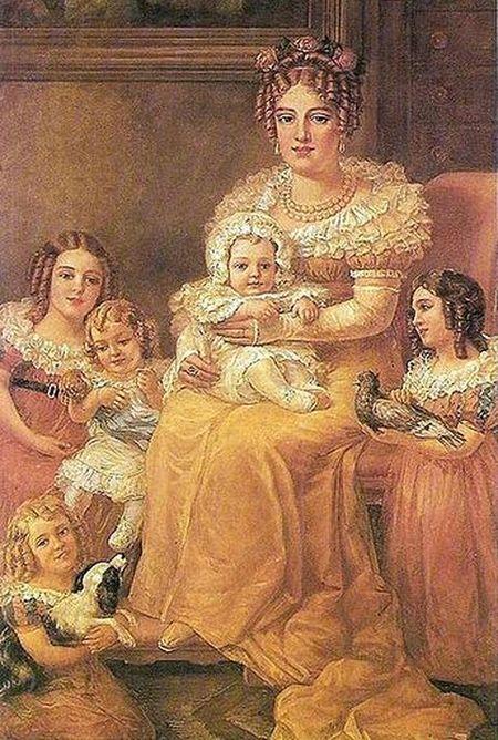 Portrait of Maria Leopoldina with her children
