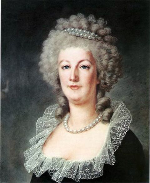Portrait of Marie Antoinette by Alexandre Kucharski, probably around 1791 at the height of the French revolution