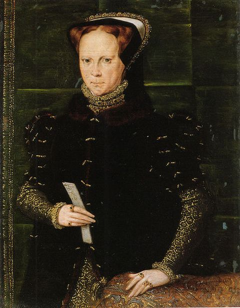Portrait of Mary I by Hans Eworth painted around 1555 to 1558