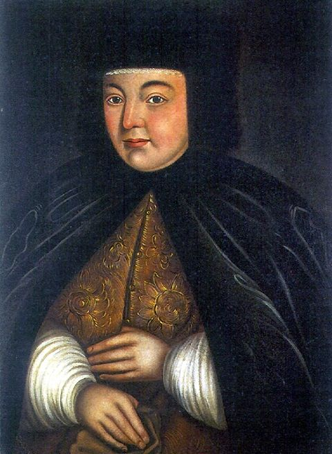 Portrait of Natalia Narishkina, second wife of Tsar Alexis I and mother of Peter the Great