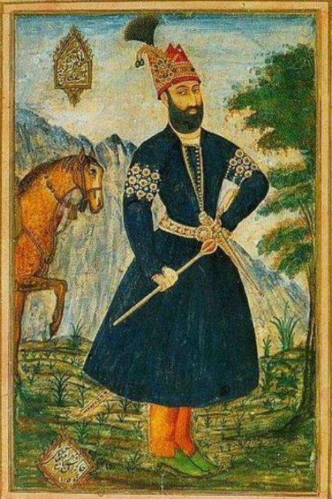 Portrait of Persian Conqueror Nadir Shah