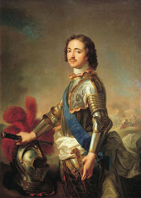 Portrait of Peter the Great by artist Jean-Marc Nattier executed around 1710