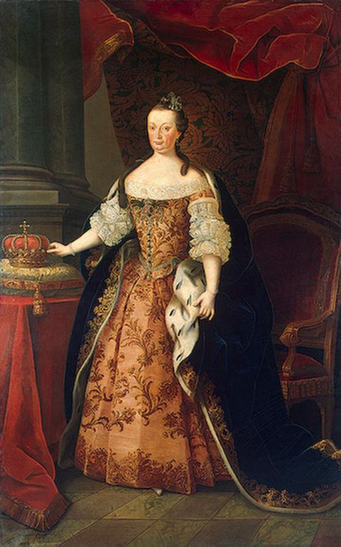 Portrait of Queen Mariana Victoria painted around 1773