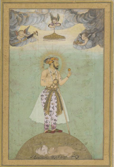 Portrait of Shah Jahan by Hashim in the mid-17th century