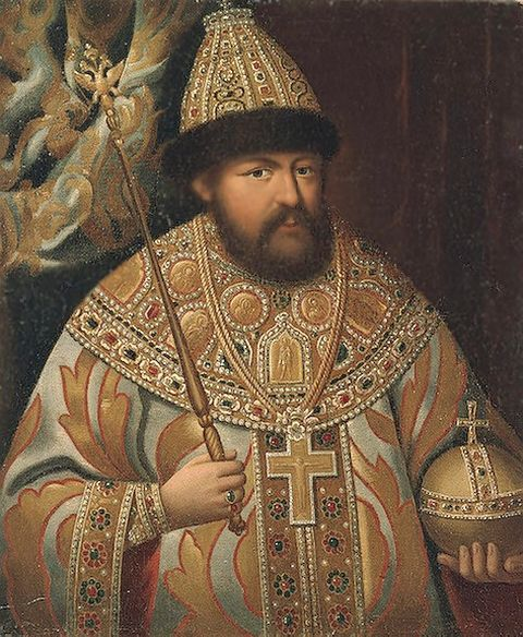 Portrait of Tsar Alexei Mikhailovich in the Hermitage Museum by unknown artist