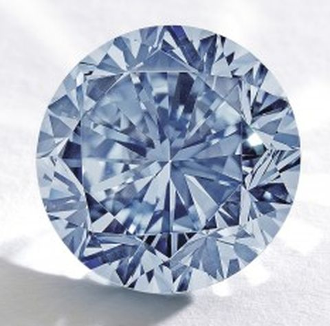 The Premier Blue Diamond - 7.59-carat, fancy vivid blue, internally flawless, round brilliant-cut diamond