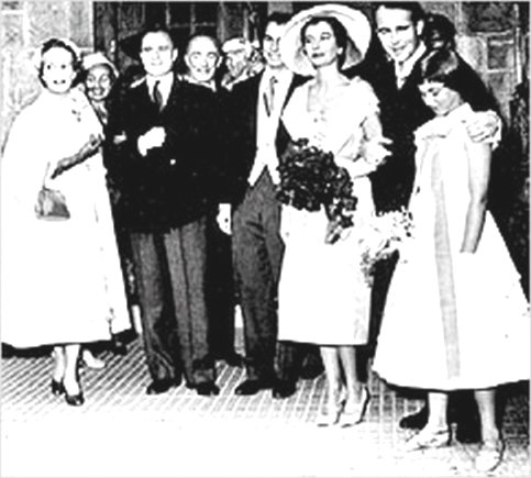 Prince Sadruddin Aga Khan with Nina Dyer at the time of their marriage in 1957