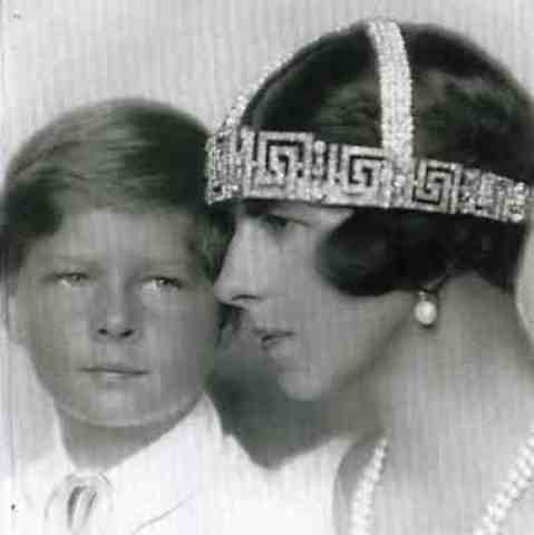 Princess Helen of Greece with her son Crown Prince Michael