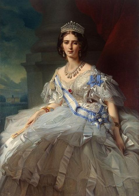 Princess Tatiana Alexandrovna Yussupova wearing the Yussupov Lovers Knot Tiara