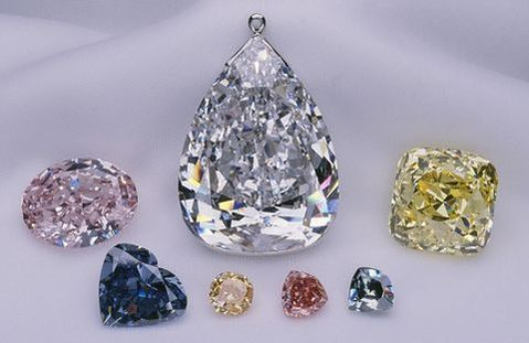 Pumpkin diamond displayed at the Smithsonian's NMNH as part of the Splendor of Diamonds Exhibition