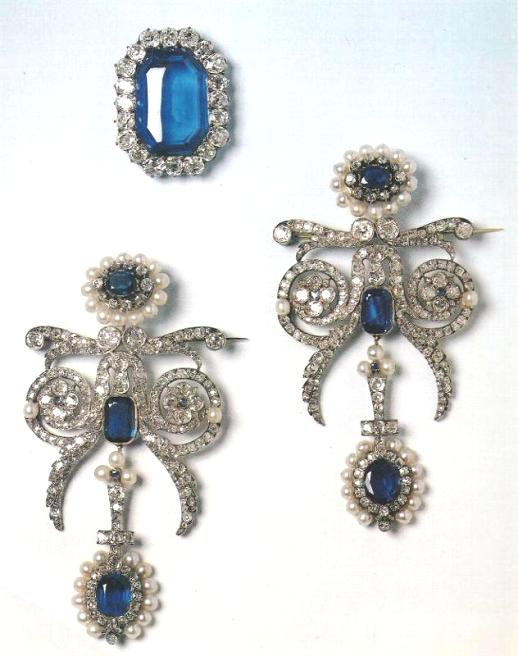 Queen Marie Amelie Belt Buckle and Shoulder Brooches